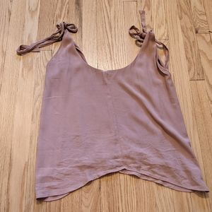 Express Crepe Material tank with shoulder ties